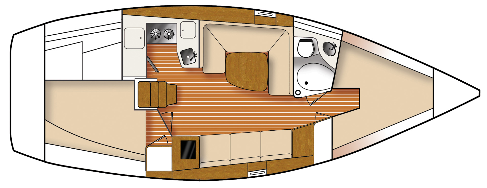 Catalina 315 floorplan