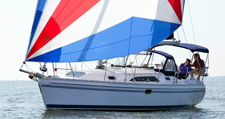 Catalina 355 sailing
