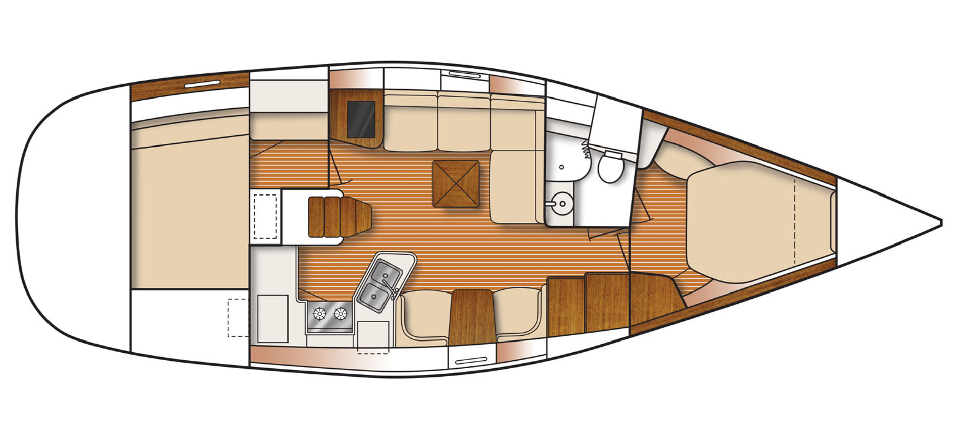 Catalina 385 layout