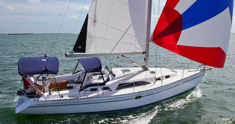 Catalina 385 sailing