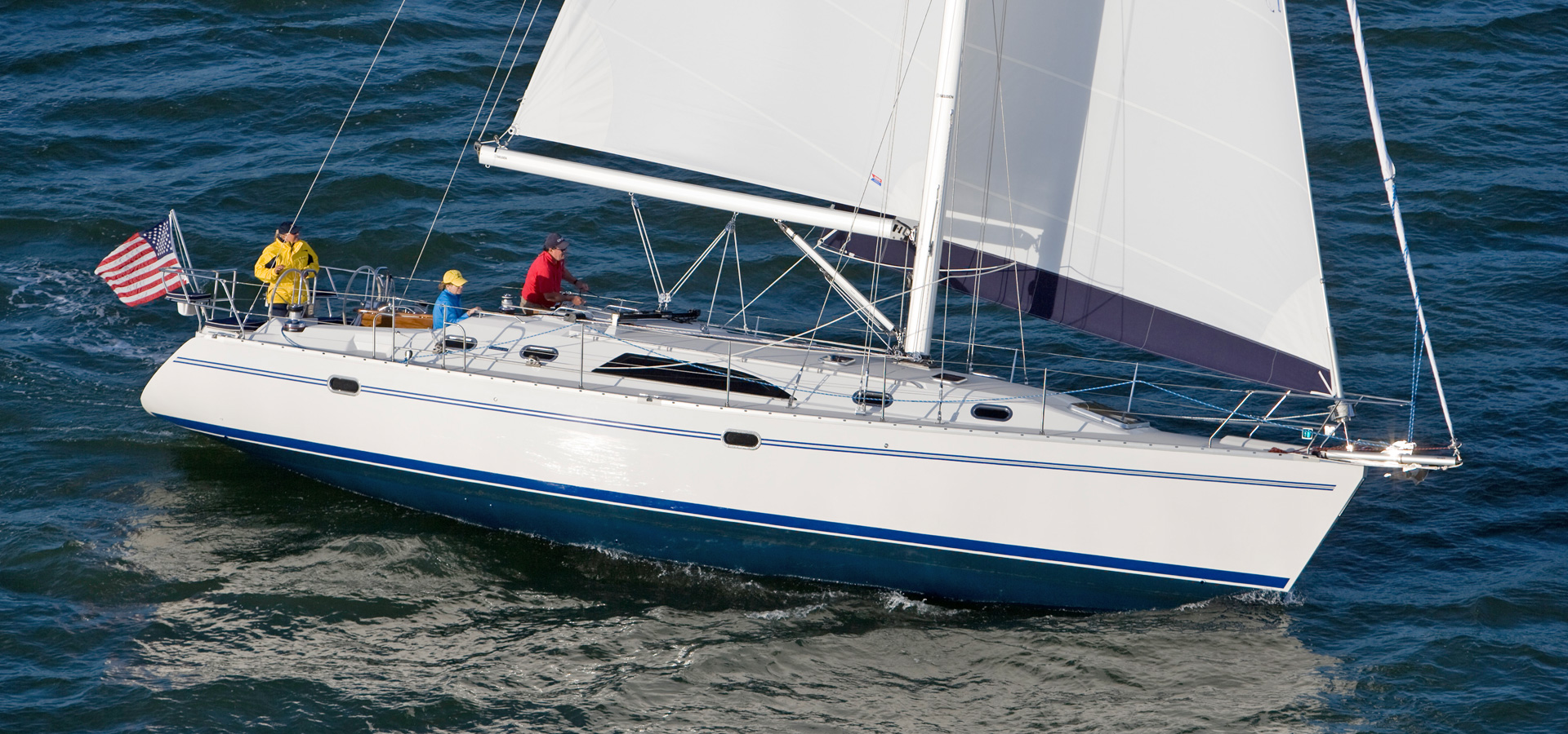 Catalina 445 sailing