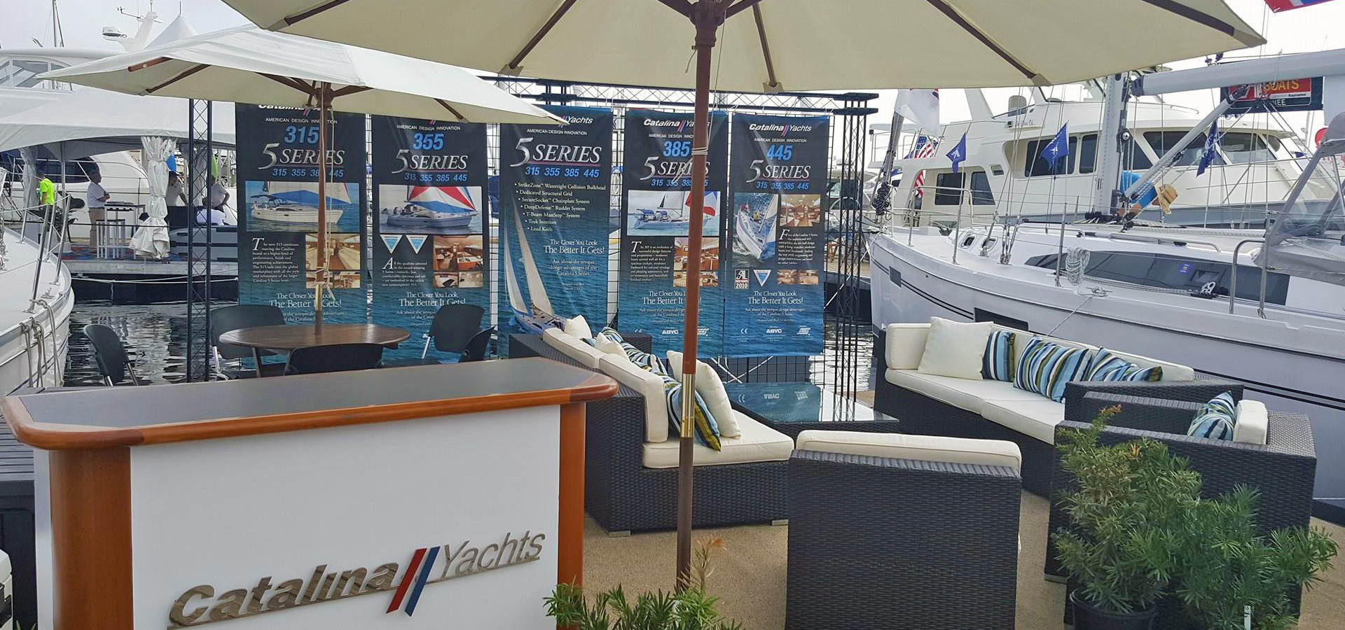 Boat Show booth